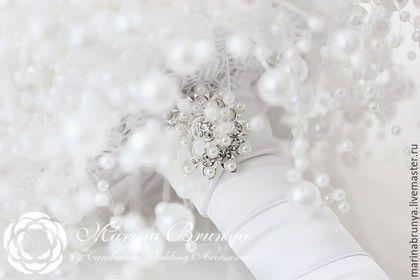 Свадебные цветы ручной работы. Заказать Жемчужный БУКЕТ НЕВЕСТЫ. Марина Бруня. Ярмарка Мастеров.…