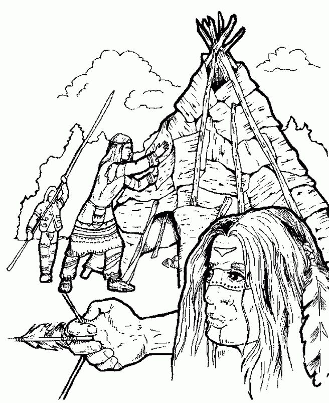 254 best Indianer images on Pinterest Drawings Coloring sheets