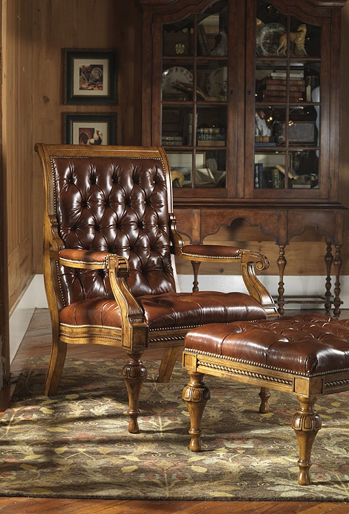Highland House Furniture: 892 LE   LEATHER ALEXANDER CHAIR