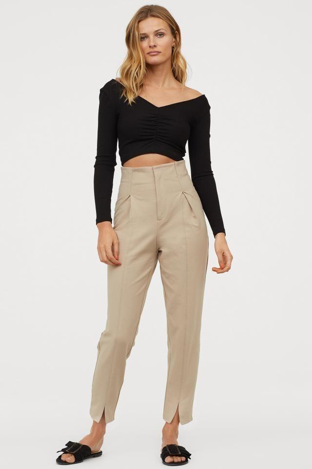 Ankle length Pants Beige Ladies | H&M US | Ankle length