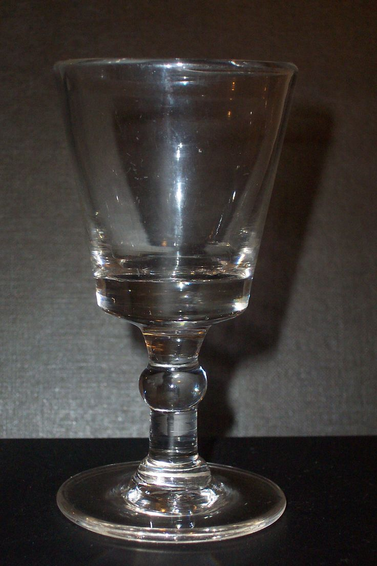 circa 1760 dram glass with rough snapped pontil