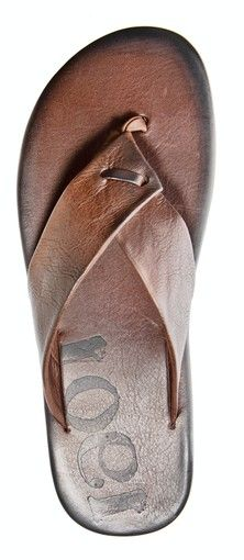 This mens sandal is a versatile, dressier leather alternative to rubber flip-flops.
