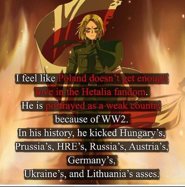 Maybe i dont talk about him much but i have a HUGE respect for Poland