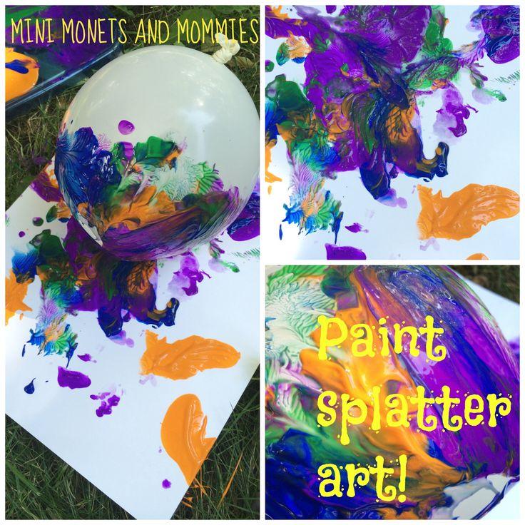 Paint Splatter Art with a balloon! - A Bird and a Bean