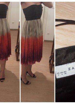 Kaufe meinen Artikel bei #Kleiderkreisel http://www.kleiderkreisel.de/damenmode/kurze-kleider/145738065-corsagenkleid-von-zara-aus-seide