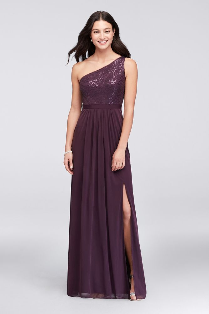 c6750b60092 Sequin and Mesh One-Shoulder Bridesmaid Dress Style AP2E202811 ...