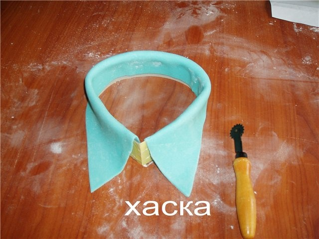 How to Make a Collar  template shown with measurement