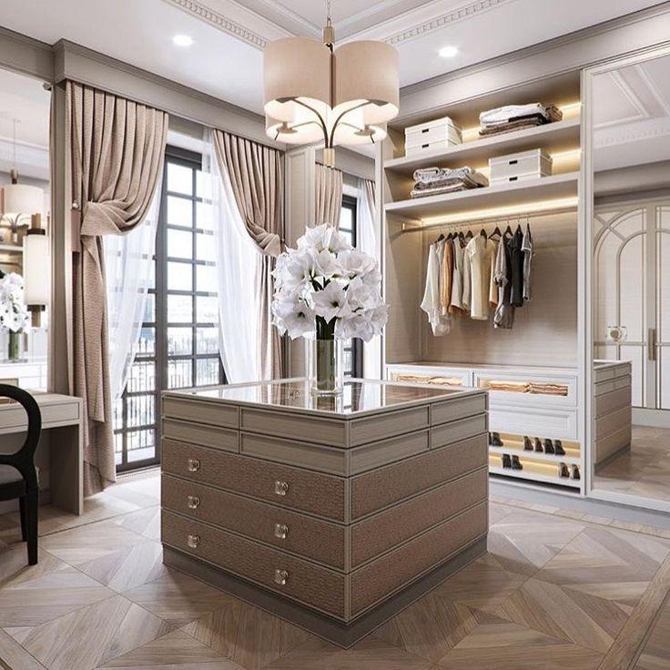 Dream walk-in wardrobe with the delicate jewellery like Officina Luce pendant 📷@juliajuliaoo #MSAgency #officinaluce #walkinwardrobe