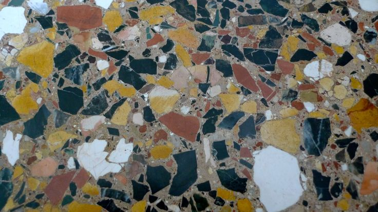 Self Leveling Terrazzo : Palladian terrazzo inch or larger random fractured