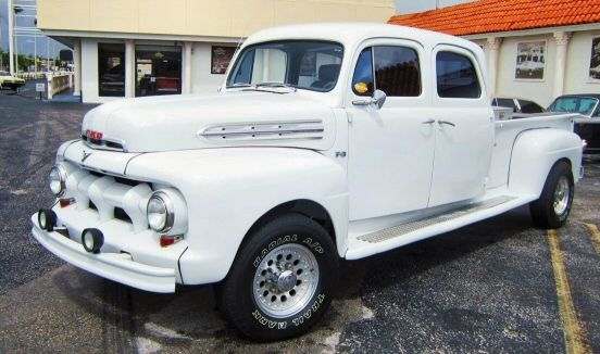 I've never seen a Crew Cab in a truck from this era. I like it!! 1951 Ford Crew Cab Custom Pick-Up Truck.