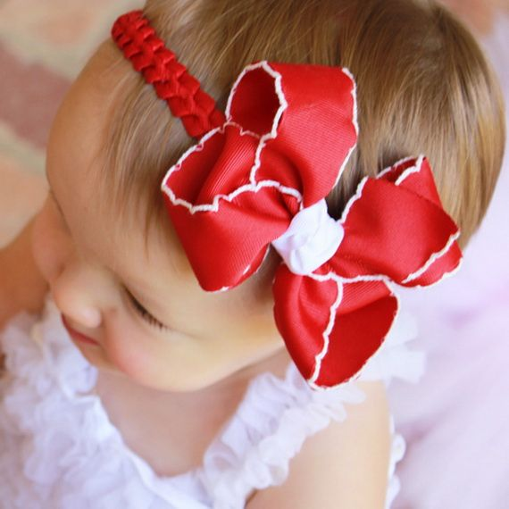 Red color #headband