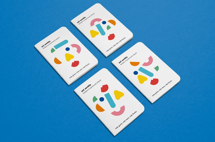 Branding for a children's occupational therapy center called seven senses.The graphic system is built with seven geometric shapes that represent the seven senses: sight, smell, hearing, touch, taste, balance and movement. These dynamic geometric element…