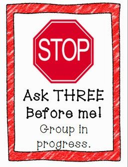 Classroom Communication Tools - Free STOP sign to display during guided reading groups. See blog post for more ideas!