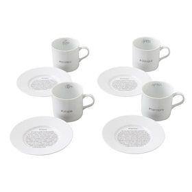 Cappuccino cups set/4