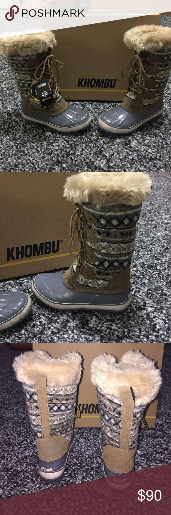 KHOMBU Boots Tall boots with fur. Khombu Shoes Winter & Rain Boots