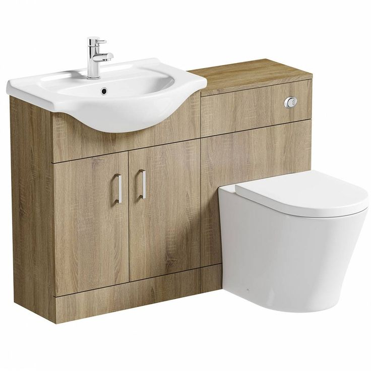 Sienna Oak Arc Combination Vanity Unit Large
