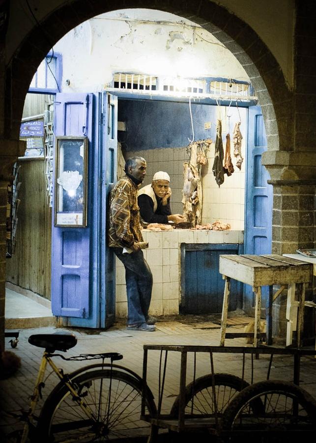 The butcher. Essaouira, Morocco. 2011