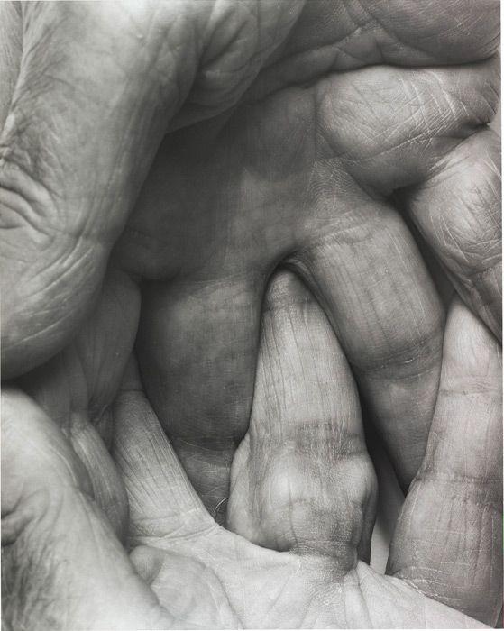 John Coplans, Interlocking Fingers No. 6, 1999