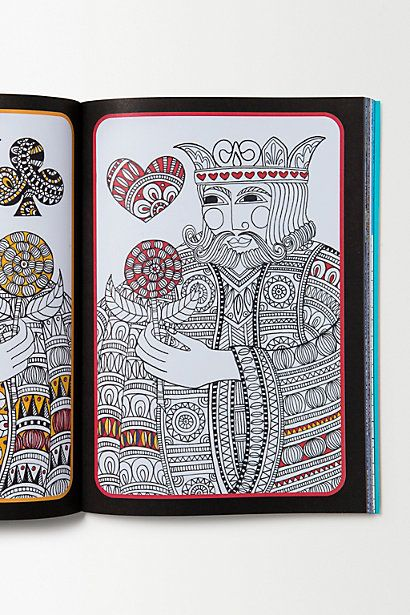 King Of Hearts By Cindy Wilde FromArt Therapy Colouring Book