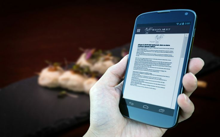Birds Nest Restaurant Mobile App - Menu list on an app.  Convenience for your customers who would like to just order on an app or via phone.