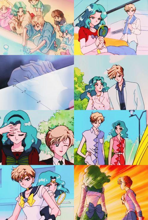 天王はるか(セーラーウラヌス)&海王みちる(セーラーネプチューン) Haruka tenoh (Sailor Uranus) and Michiru Kaioh (Sailor Neptune) - Sailor Moon screencaps