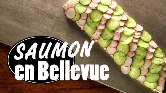 Saumon en Bellevue, façon Danny Saint-Pierre!   ( Belle présentation pour un buffet et facile à réaliser ).