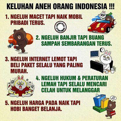 Keluhan aneh orang indonesia