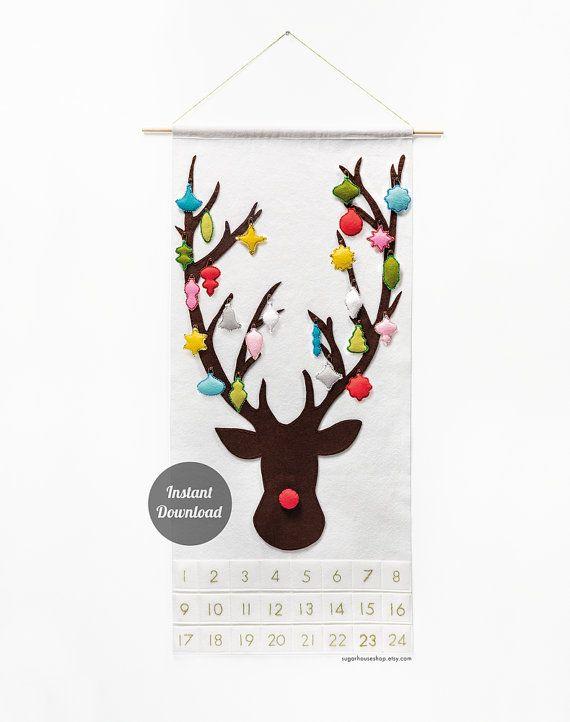 Advent Calendar Pattern PDF Christmas Felt by SugarHouseShop