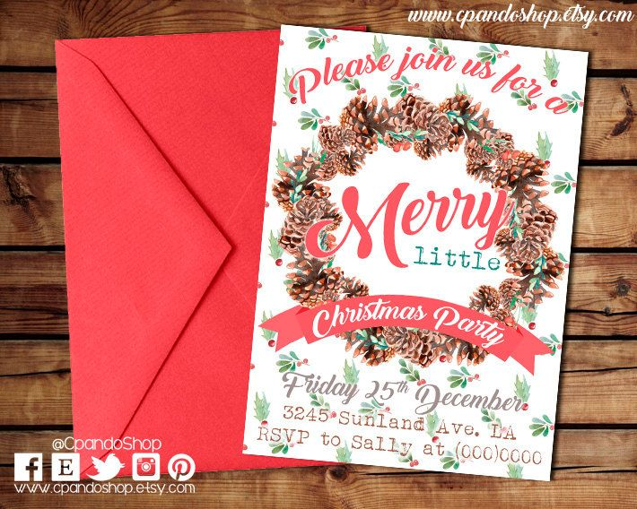 Invite For Christmas Party