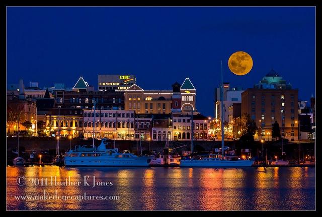 Full Moon Over Victoria Bc Full Moon Rising Pinterest