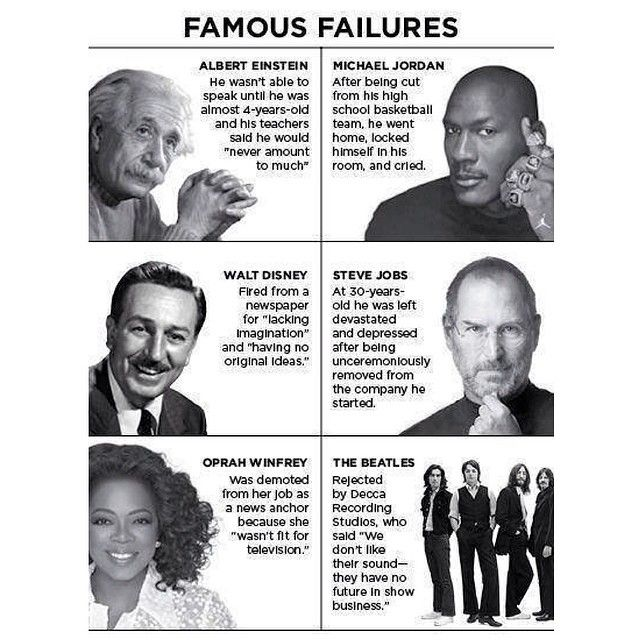 Giant leaps to Success...: It's okay to fail!
