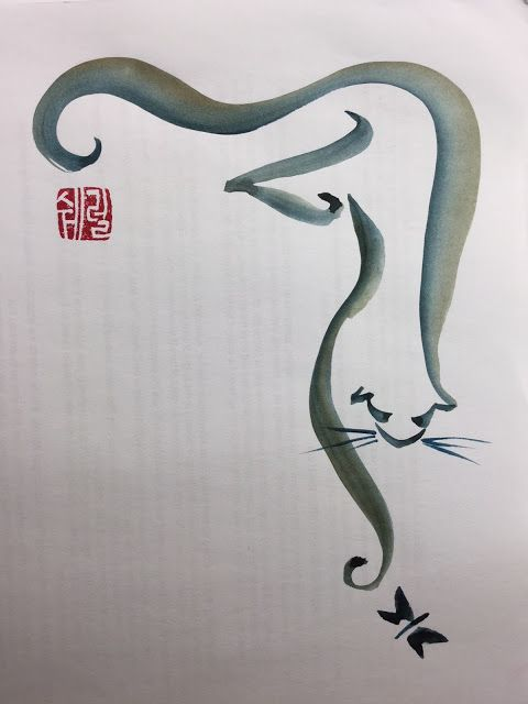 Painting a One-stroke Kitty Cat