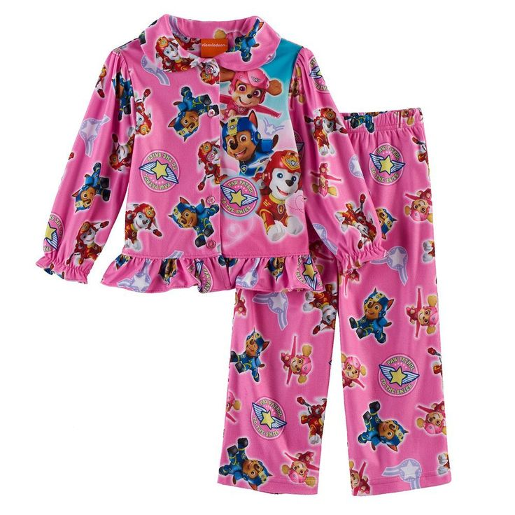Toddler Girl Paw Patrol 2-pc. Skye, Marshall & Chase Top & Pants Pajama Set, Size: 3T, Multicolor