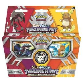 The easy way to learn and play! Master the art of Pokemon battling with your favorite Pokemon- one card at a time! The Pokemon Trading Card Game: Sun & Moon Trainer Kit- Lycanroc & Alolan Raichu gets you playing form the very first card you draw. And with fun and powerful Pokemon at your side, you'll be a Pokemon Trainer before you know it.