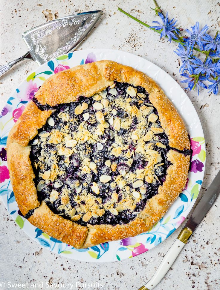 This rustic Blueberry Almond Crumble Galette is a delicious way to enjoy fresh blueberries while they're in season.