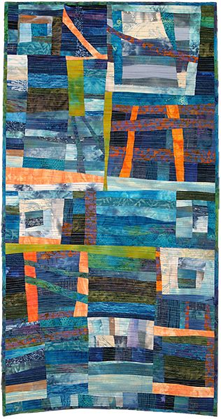 """""""Always the Sea"""" by Julie Mackinder. Art Quilt Category - Contemporary Quilt. Quilters' Guild of the British Isles. 2013 Festival of Quilts."""