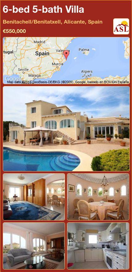 6-bed 5-bath Villa in Benitachell/Benitatxell, Alicante, Spain ►€550,000 #PropertyForSaleInSpain