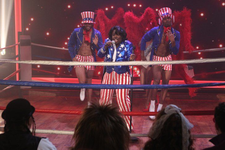 Pin for Later: The Hosts of The Talk Are Literally Rocking These Music-Themed Halloween Costumes Sheryl Underwood as James Brown