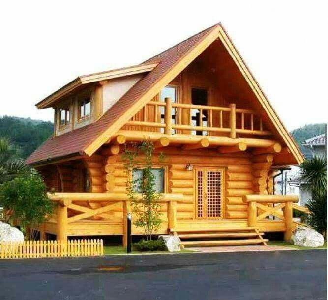 Log Home Loghomerustic Wooden House Design Wood House Design House In The Woods