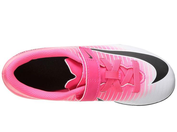 Nike Kids Jr Mercurial Vortex III (V) FG Soccer (Toddler/Little Kid) Kids Shoes Racer Pink/Black/White