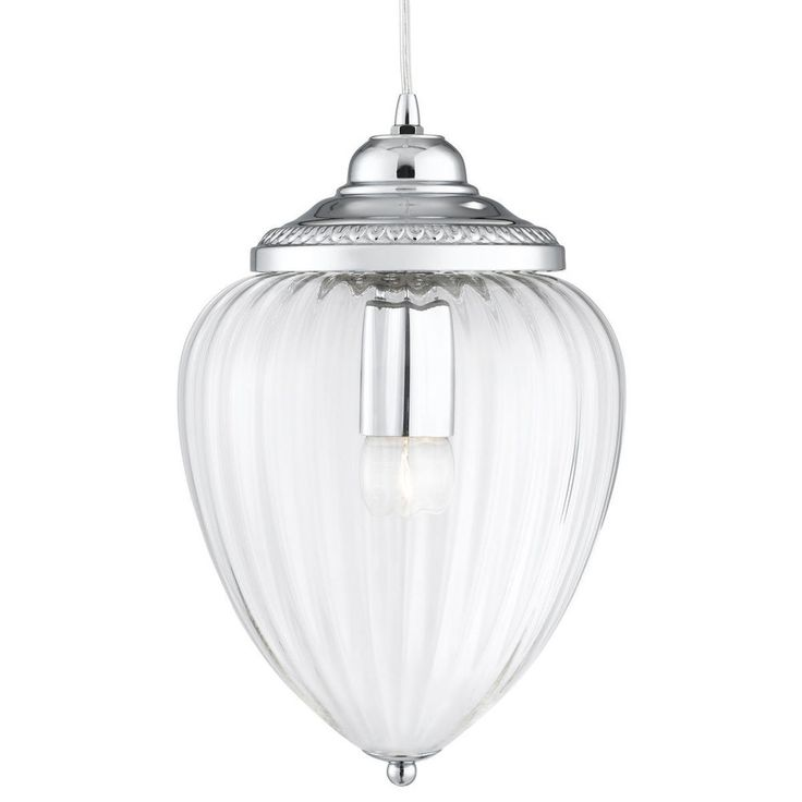 Searchlight Lighting 1091CC Chrome 1 Light Hanging Lantern