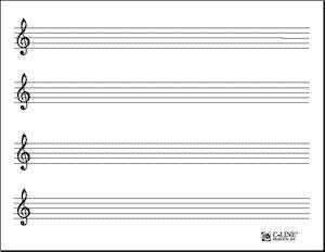Music Staff Template | Free Dry Erase Sheet Printer Templates U2013 57911    C Line