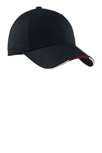 cdd1353938e Port Authority® Sandwich Bill Cap with Striped Closure