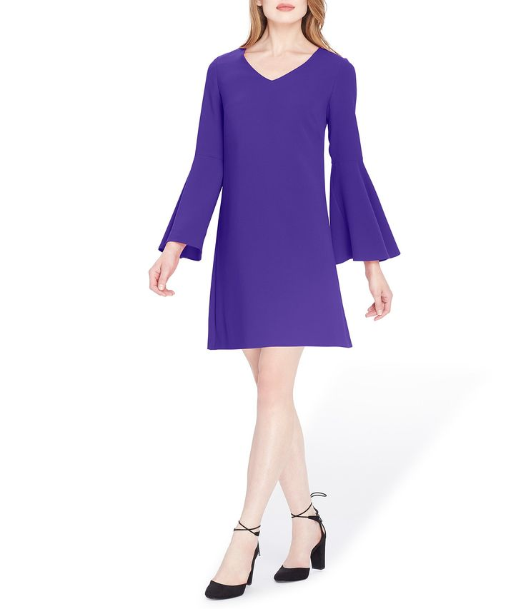 Tahari ASL Bell Sleeve Shift Dress #Dillards