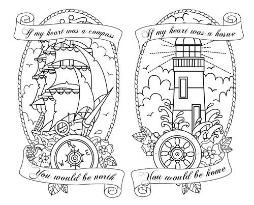 Nice nautical tattoo design... Especially that awesome typo... *facepalm*