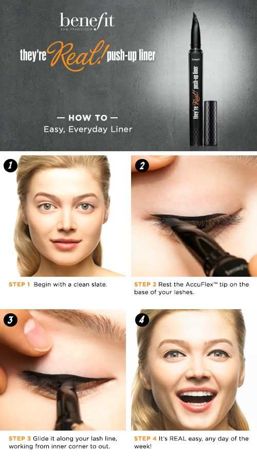 Finally, an eyeliner for all of us who struggle with drawing on the perfect cat eye! This Benefit eyeliner was designed with ladies like us in mind with a one-of-a-kind tapered tip.