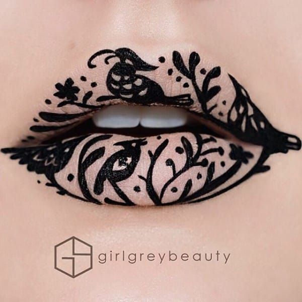 Birds On Branches Lip Art                                                                                                                                                     More