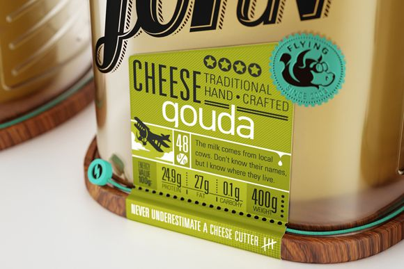 Gouda cheese hand crafted captain john