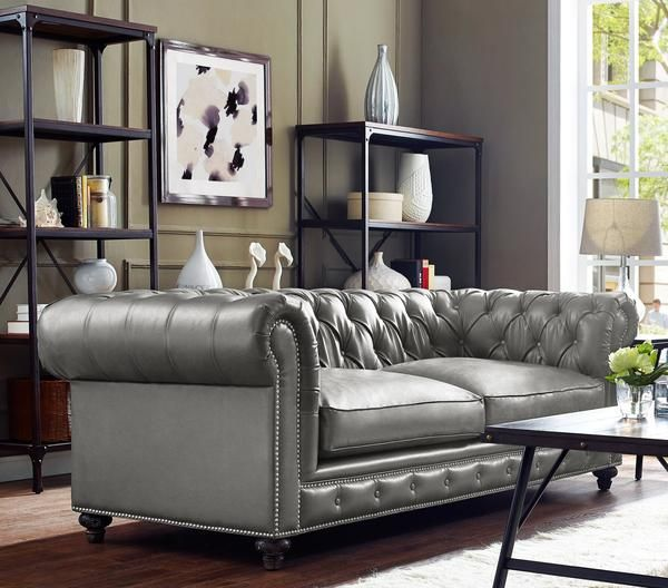 best 20 grey leather sofa ideas on pinterest grey leather couch silver room and grey living. Black Bedroom Furniture Sets. Home Design Ideas