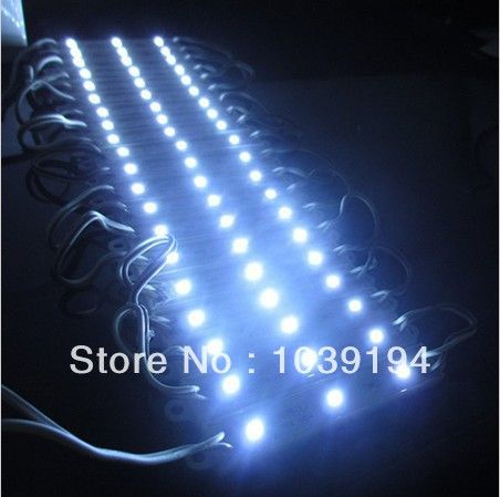 Free Shipping 40pcs/lot DC12V Super Bright SMD5050 cold white LED Module Light 3leds/piece IP65Waterproof 0.72W for Advertising #Affiliate